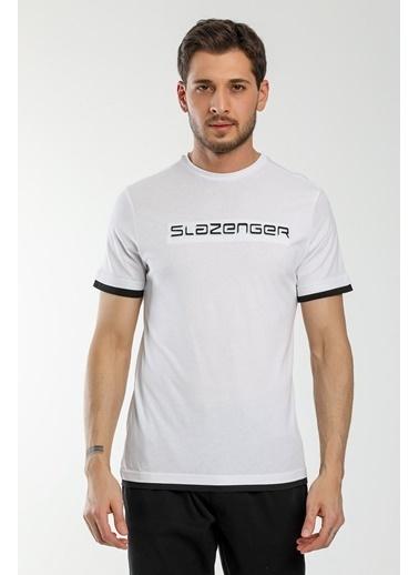Slazenger Slazenger MASSIVE Erkek T-Shirt  Beyaz